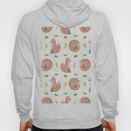 Foxes on Cream Background Hoody