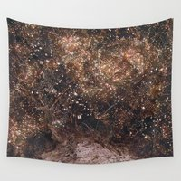 fireflies Wall Tapestries featuring Fireflies by Alexis Hilliard