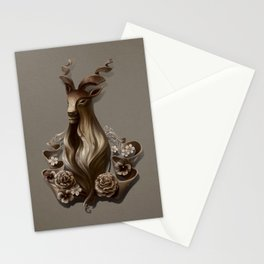 Wood Goat Stationery Cards