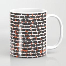 Red and Black Abstract Drawn Blood Wall Coffee Mug