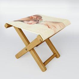 Audrey Hepburn - Eliza Doolittle - Watercolor Folding Stool