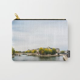 Seine river at Saint Louis island confluence in Paris Carry-All Pouch