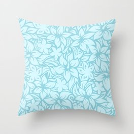 Moloaa Bay Hawaiian Hibiscus Aloha Shirt Print Throw Pillow