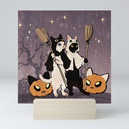halloween cats Mini Art Print