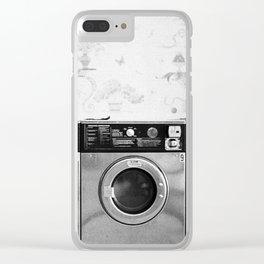 Vintage Laundromat Clear iPhone Case
