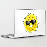 sunglasses Laptop & iPad Skins featuring sunglasses on by Li-Bro