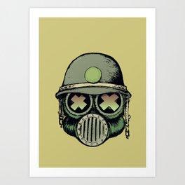 War Skull Art Print
