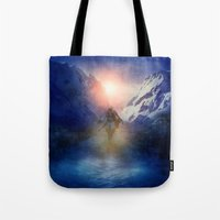 assassins creed Tote Bags featuring Assassins Creed by Viviana Gonzalez