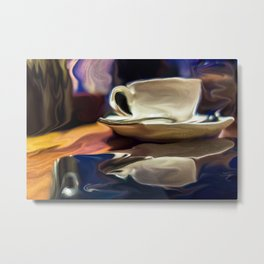 Coffee And Smartphone Metal Print