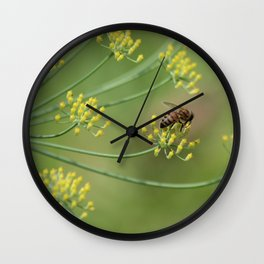 bees and fennel Wall Clock