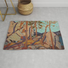 Tom Thomson - Pine Cleft Rocks - Canada, Canadian Oil Painting - Group of Seven Rug