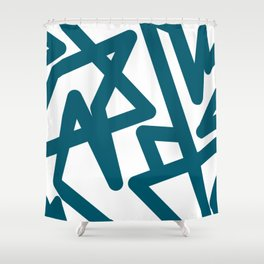 Teal Happiness Shower Curtain