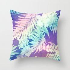 Happy Aloha Rainbow Throw Pillow