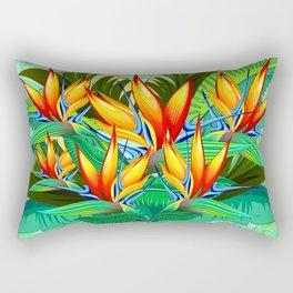 Bird of Paradise Flower Exotic Nature Rectangular Pillow