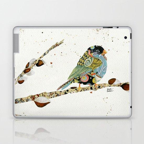 Cafe Swirly Bird 4 Laptop & iPad Skin