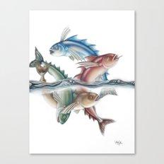 INKYFISH - Jumping Fish Canvas Print