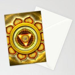 "Manipura Chakra - Solar Plexus Chakra Series ""Open Chakra"" Stationery Cards"