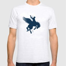 Sky Rodeo SMALL Ash Grey Mens Fitted Tee