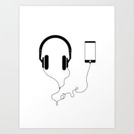 Music and love Art Print