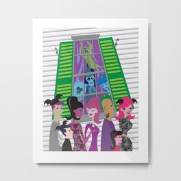 No Vacancy - Haunted Mansion Meets Bats Day Metal Print