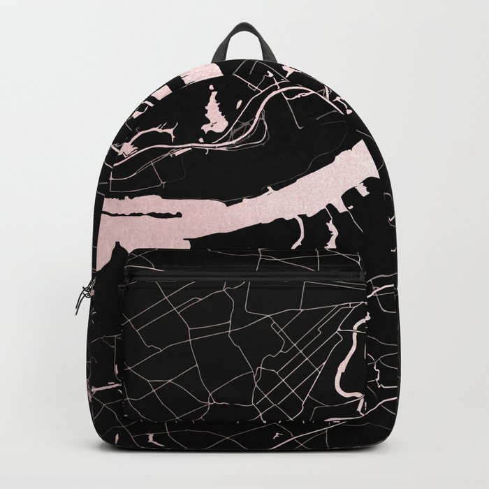 Philadelphia - Black and Rose Gold Backpack