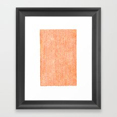 Stockinette Orange Framed Art Print