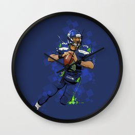 Russell Wilson QB 3 Seattle Seahawks Wall Clock