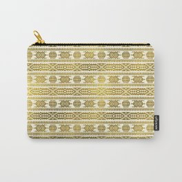 Gold  Aztec Peruvian Tribal Pattern Carry-All Pouch