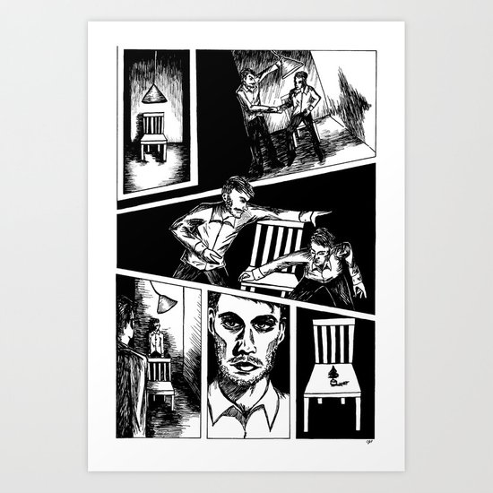 Interrogation Art Print