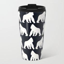 Gorillas White Travel Mug