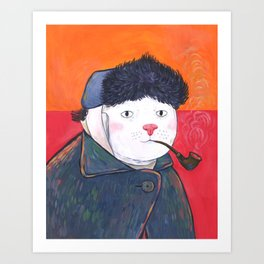 Van Cat Art Print