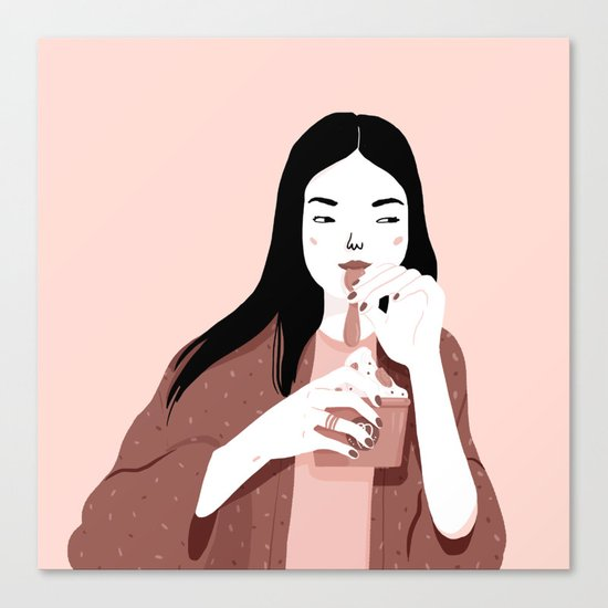Froyo lover Canvas Print