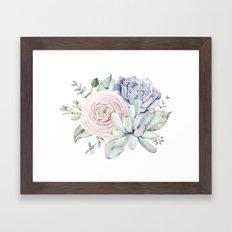 Succulent Blooms Framed Art Print