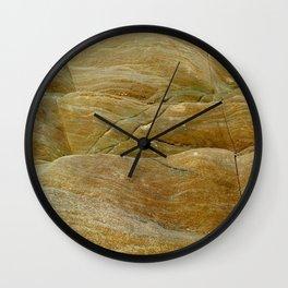 Textura de rocas antiguas Wall Clock