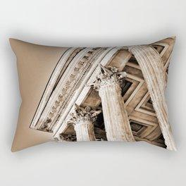 Ancient Roman Temple Nimes Provence France Sepia Rectangular Pillow