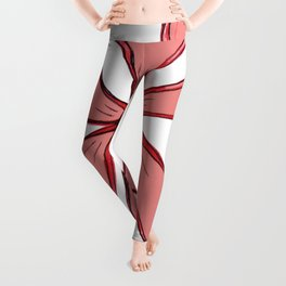 """Red"" Color Chakra Flowerkid Leggings"