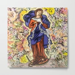 Our Lady, Undoer of Knots Metal Print