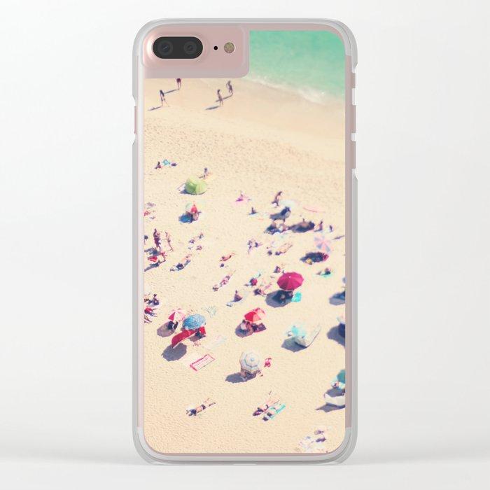 beach summer in love Clear iPhone Case