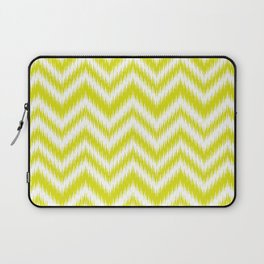 Chevron, Yellow, Scandinavian, Minimal, Pattern, Modern art Laptop Sleeve