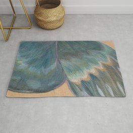 Butterfly Wing On Wood Rug