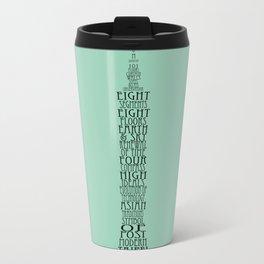 'Wordy Structures' Taipei 101 Blue Metal Travel Mug