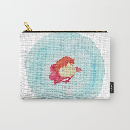 Ponyo Watercolor Carry-All Pouch