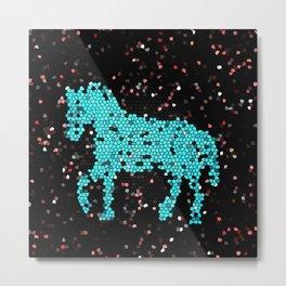 Horse glass Metal Print