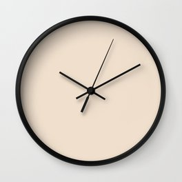PEARLED IVORY soft pastel solid color  Wall Clock