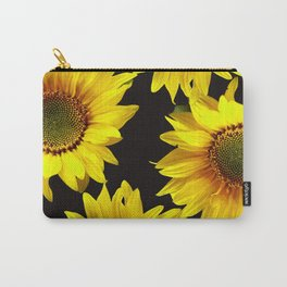 Large Sunflowers on a black background #decor #society6 #buyart Carry-All Pouch