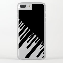 Black and White Meteor Shower Clear iPhone Case