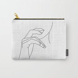 Hands line drawing illustration - Grace Carry-All Pouch