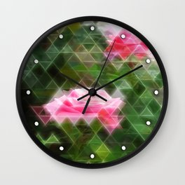 Pink Roses in Anzures 5 Art Triangles 2 Wall Clock