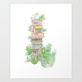 Chowder Art Print