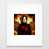 mockingjay Framed Art Prints featuring Mockingjay by gottalovedrawing